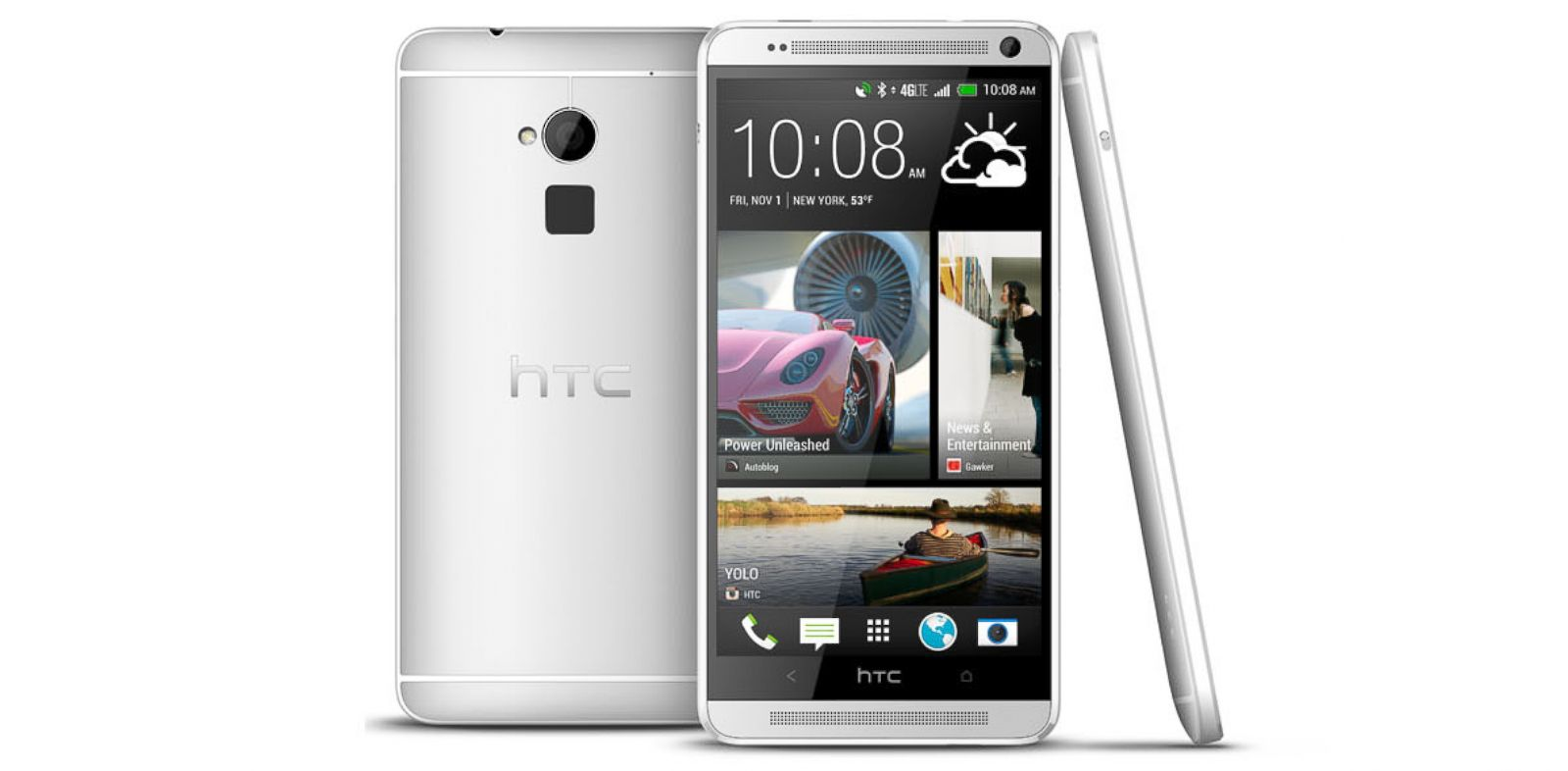 PHOTO: The HTC One Max has a large 5.9-inch, 1080p screen and a fingerprint reader.