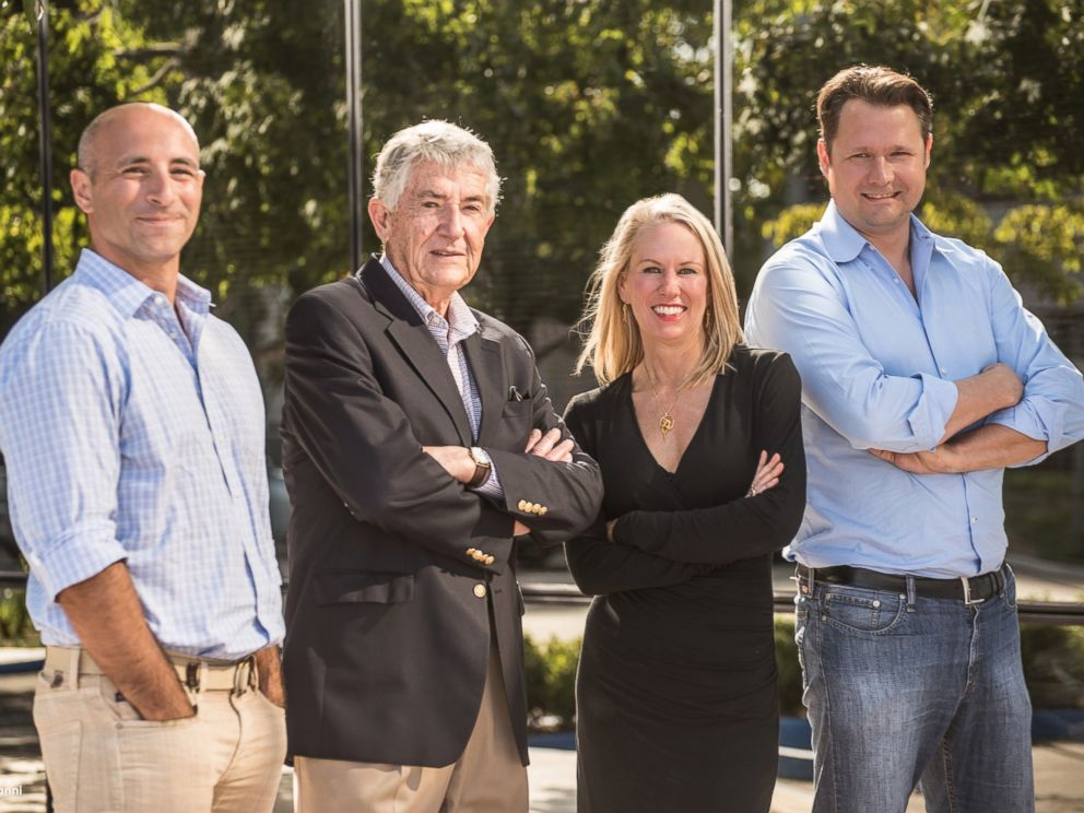 PHOTO: Marco Villa (left) and Patricia Galloway (second from right) were chosen to lead Hyperloop Transportation Technologies. JumpStartFund CEO Dirk Ahlborn (right) helped create the Hyperloop team.