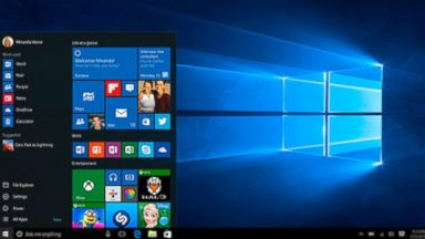 PHOTO: Windows 10 is shown in this image from Microsoft.com.