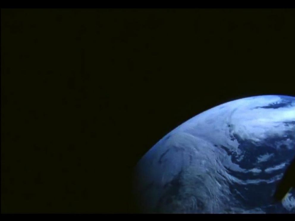 PHOTO: NASA tweeted this photo with this caption: Heres Earth as seen from #Orion during its flight out to a peak altitude of 3,600 miles away from the planet, Dec. 5. 2014.