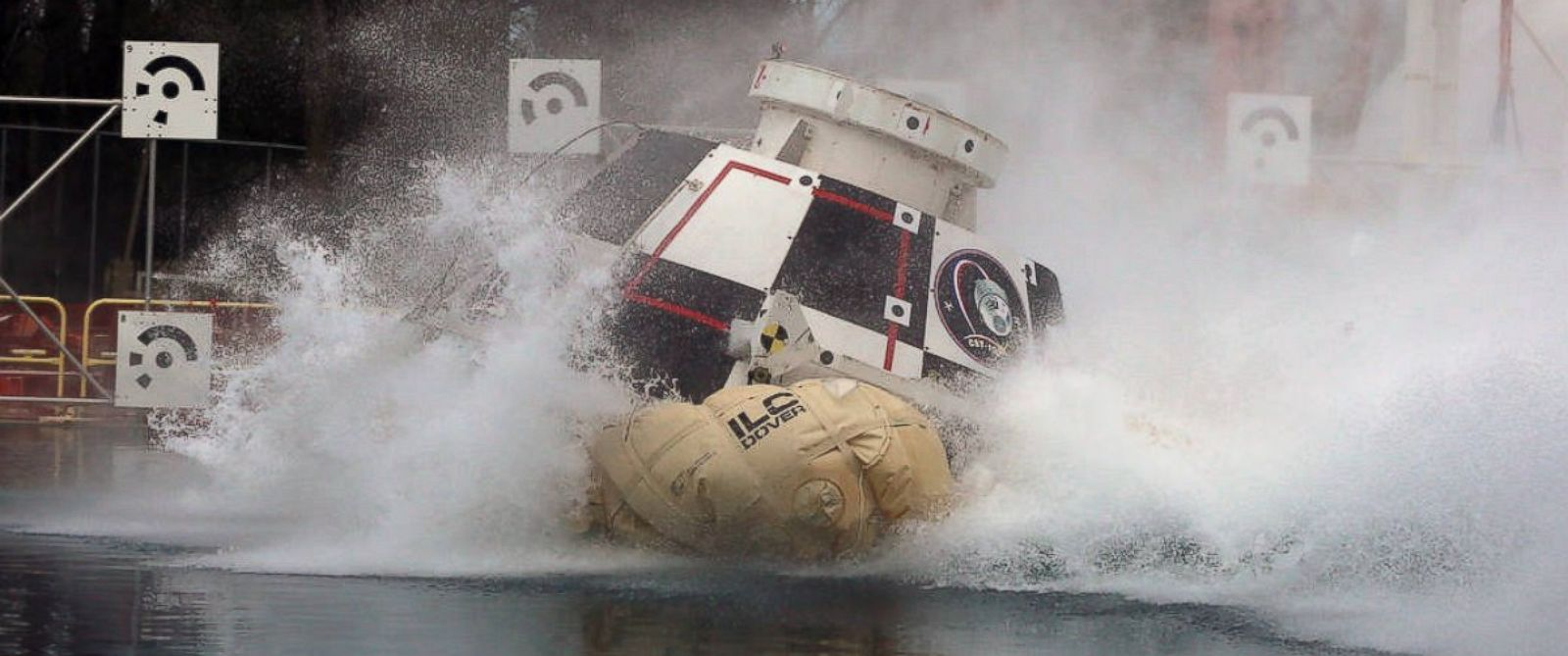 PHOTO: Engineers from NASAs Langley Research Center in Hampton, Virginia, and Boeing dropped a full-scale test article of the companys CST-100 Starliner into Langleys 20-foot-deep Hydro Impact Basin.