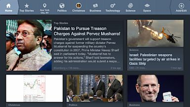 PHOTO: News360 is a news app for the iPad and Android devices.