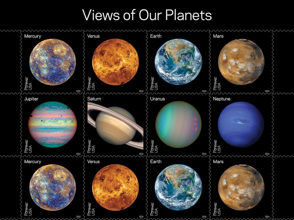 PHOTO: The United States Postal Service is releasing their 2016 stamps.