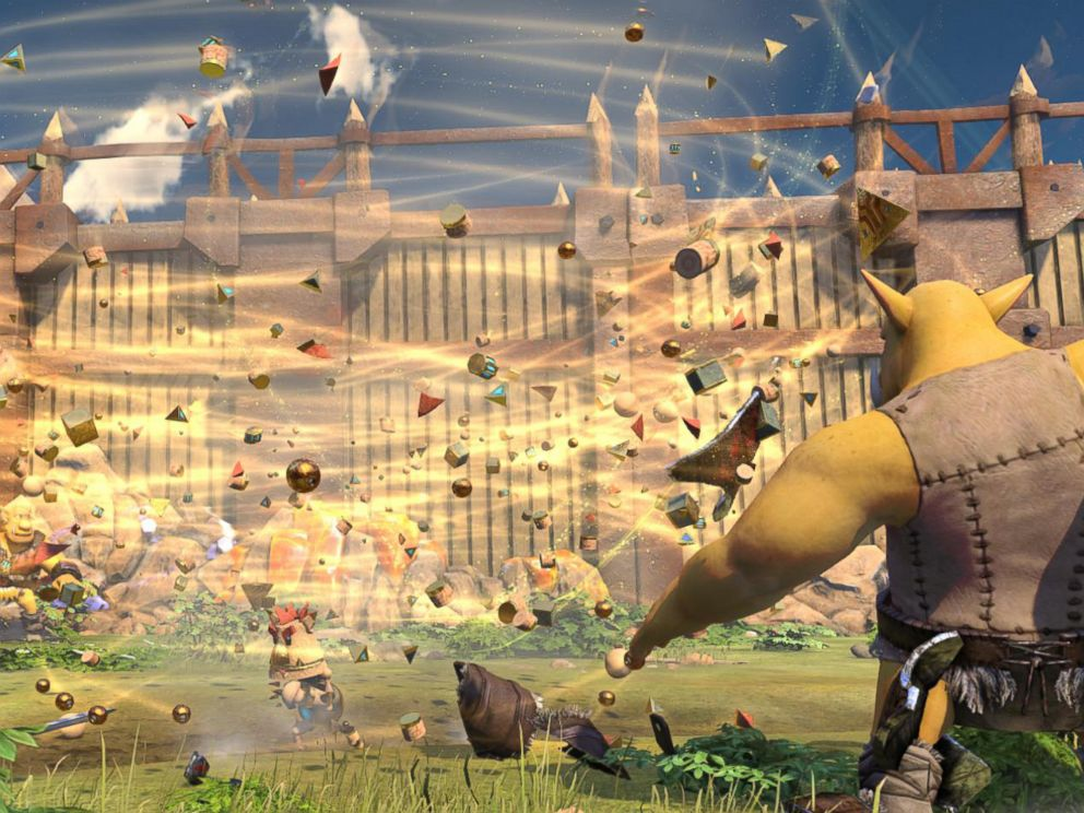 PHOTO:Screenshot from Knack, a kid-friendly action game exclusive to the PS4.