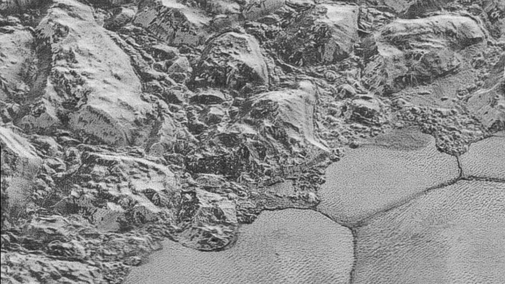 PHOTO: New Horizons sent back a close-up of Plutos surface.