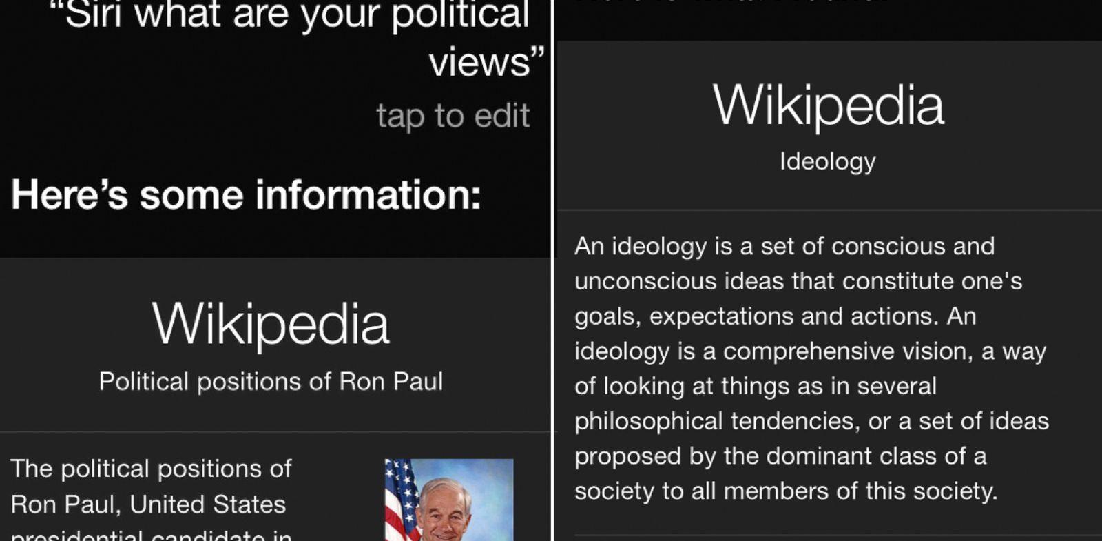 PHOTO: Siri, once a Ron Paul fan?