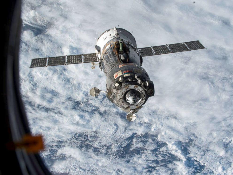 PHOTO: The Soyuz TMA-15M spacecraft undocked from the Rassvet module on the International Space Station on June 11, 2015.