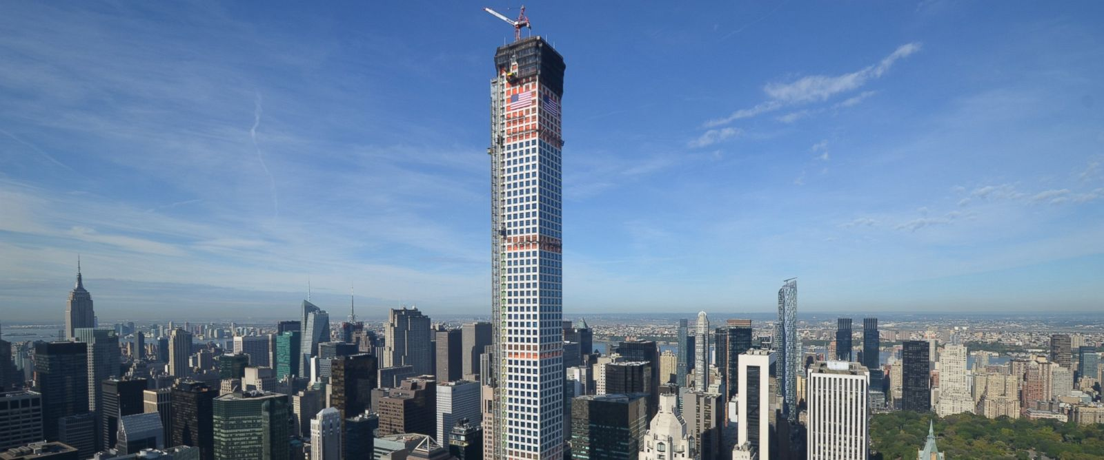 PHOTO: This location at 432 Park Ave. in NYC is the tallest residential building in the western hemisphere.