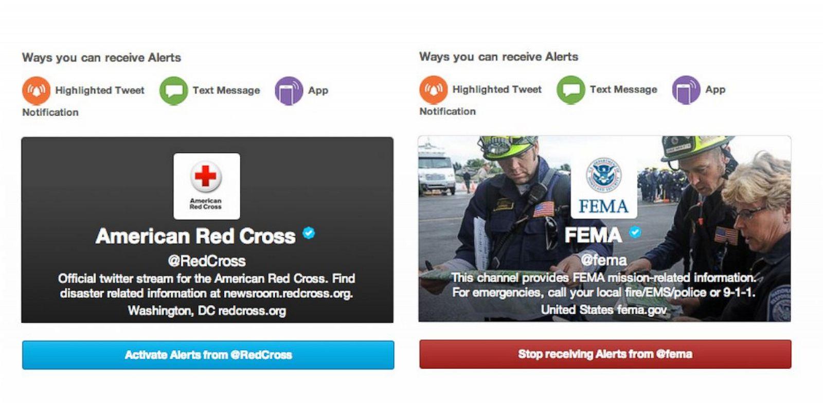 PHOTO: Twitter, alerts, emergencies