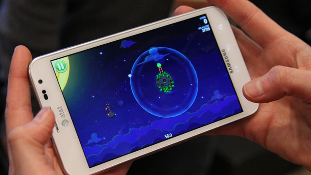 PHOTO: Rovio's new Angry Birds Space demoed at SXSW.