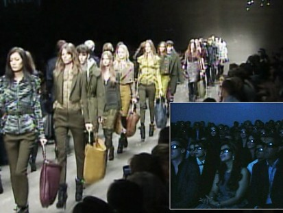 Video: Burberry stages first 3D fashion show.