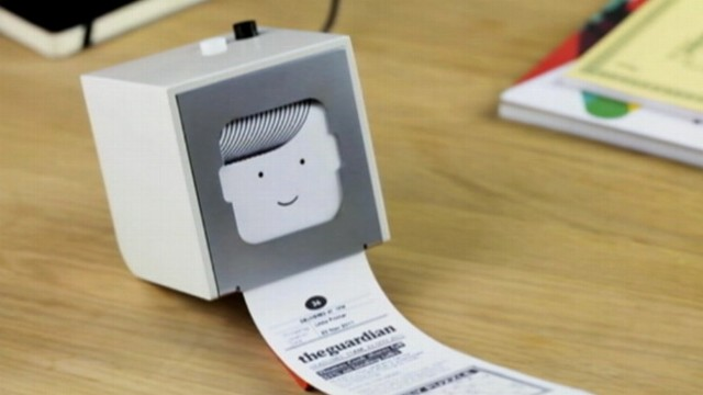 VIDEO: New product gathers customized Web content onto a receipt-sized slip of paper.