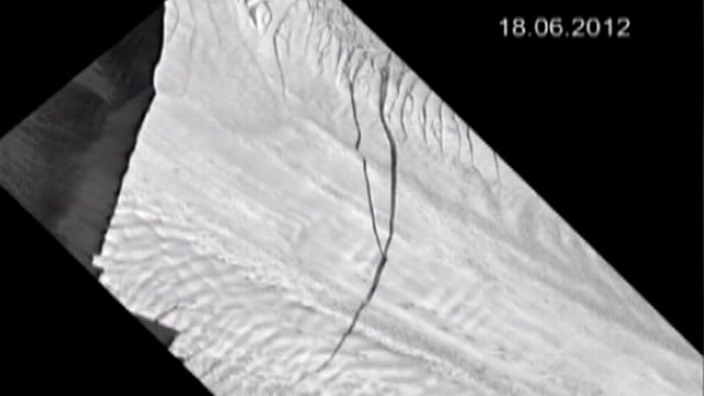 VIDEO: Satellites show Pine Island Glacier likely to split, form new iceberg.
