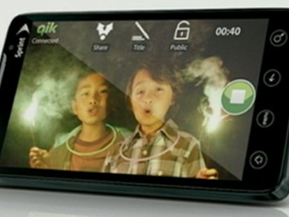 VIDEO: The 4G EVO boasts faster downloads and a camera that allows video calls.