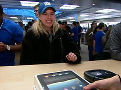 VIDEO: Apple is seeing record sales for its latest product.