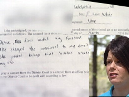 Video: Mother charged after she hacked into her sons Facebook page.