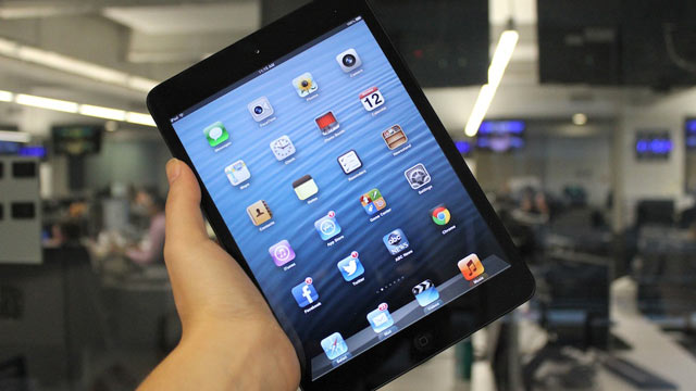 PHOTO: The iPad Mini is cheaper and smaller than the regular iPad.