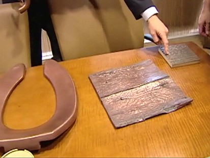 Video: Building fitted with copper handles to prevent the spread of germs.
