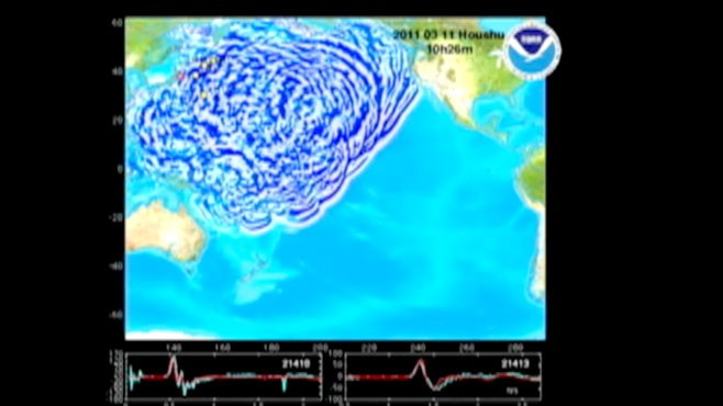 VIDEO: Computer animation shows waves across Pacific.