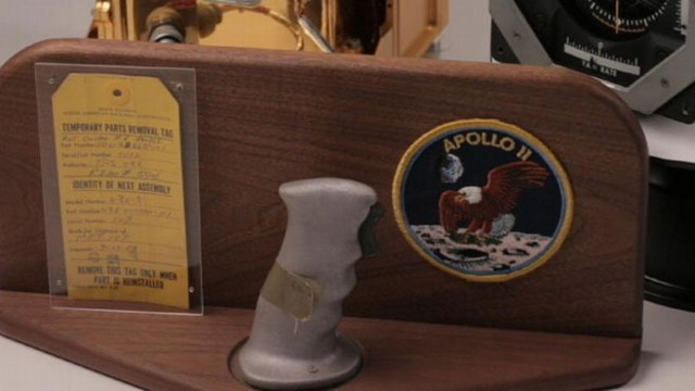 VIDEO: A rotation control handle grip is included among space items up for bid in New Hampshire.