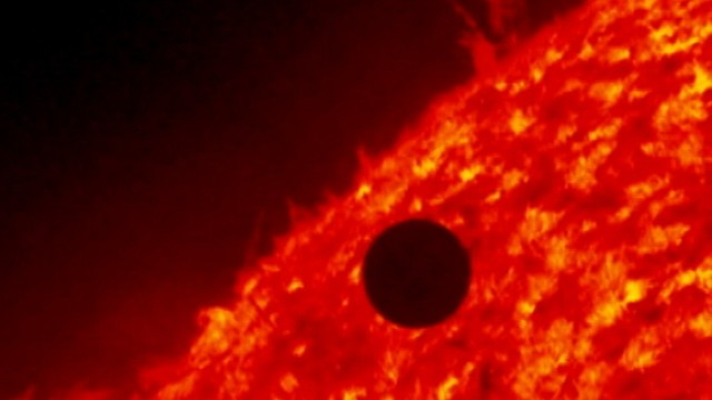 VIDEO: Solar Dynamics Observatory shoots as Venus crosses face of the sun.