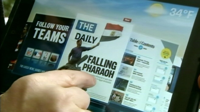 VIDEO: Rupert Murdoch launches another newspaper exclusively for the iPad.