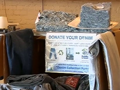 Video: Blue jeans recycled for home insulation.