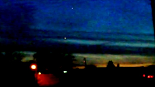 VIDEO: Video shows lights hovering above Lake Michigan.