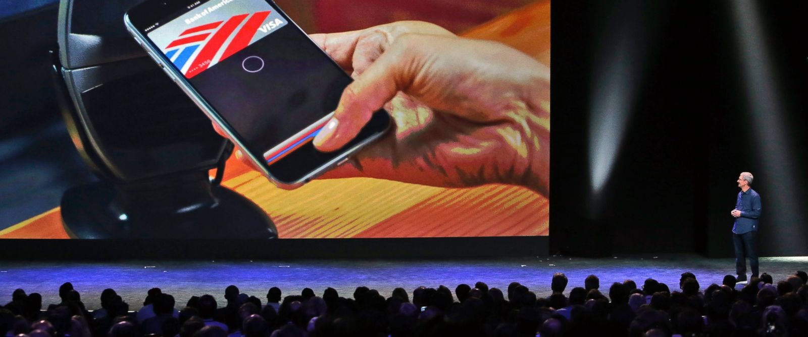PHOTO: Apple CEO Tim Cook introduces the new Apple Pay product in Cupertino, Calif. on Sept. 9, 2014.