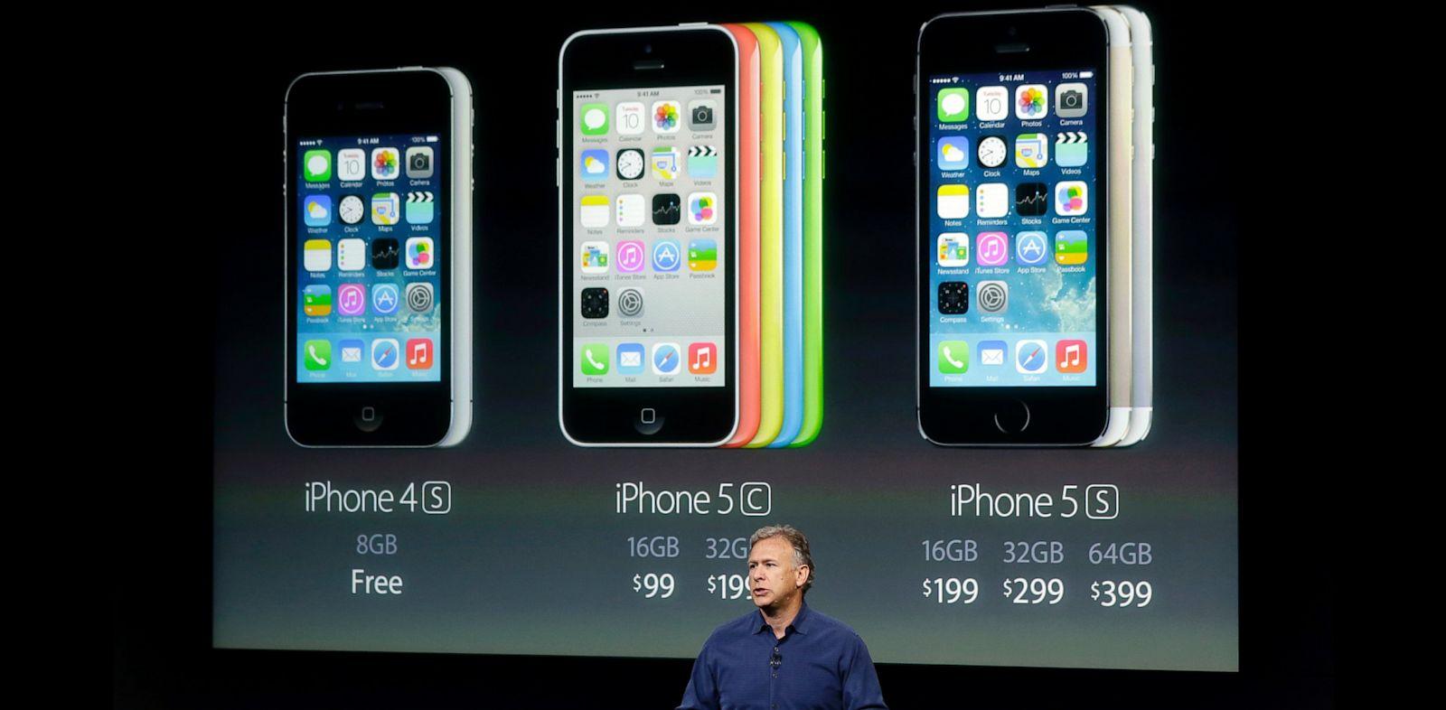 PHOTO: iPhone 4s, 5c, 5s
