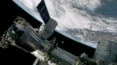 PHOTO: The International Space Station is seen in this April 20, 2014 file photo made from a frame grabbed from NASA-TV.