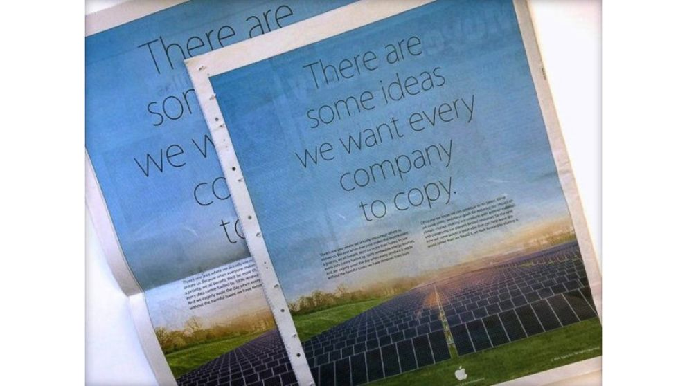 """VIDEO: Apples ad features their solar farm and the message: """"There are some ideas we want every company to copy."""""""