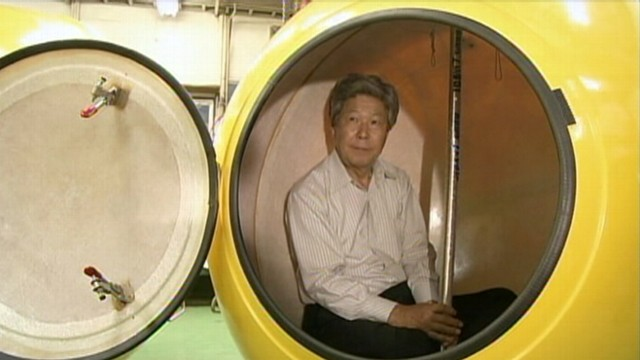 VIDEO: Factory in Japan created floating shelters for use during natural disasters.