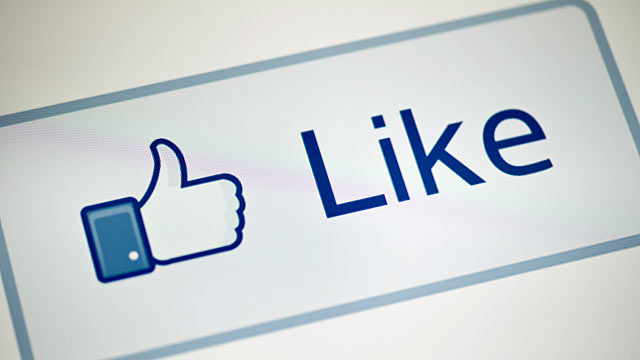 """PHOTO: A view of Facebooks """"Like"""" button."""