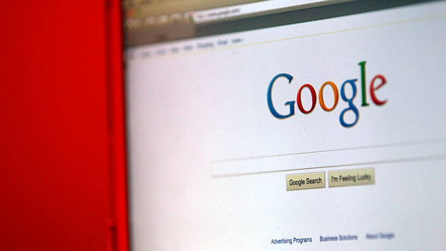 PHOTO: Google Inc.s home page is displayed on a computer screen in Santa Clara, California, April 13, 2011. Google Inc.