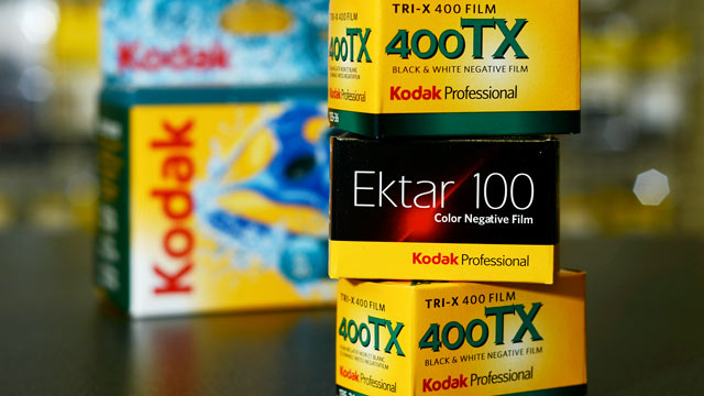 PHOTO: Boxes of Eastman Kodak Co. film are arranged at a store in Rochester, New York in this Nov. 2, 2011 file photo.