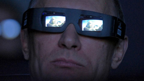 gty putin dm 120412 wblog Today in Pictures: Horse Race, Putin in 3 D, French Spiderman