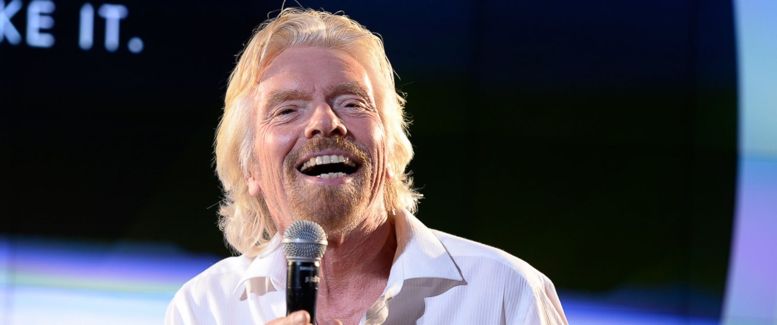 PHOTO: Sir Richard Branson speaks at the American Museum of Natural History on Sept. 22, 2014 in New York City.