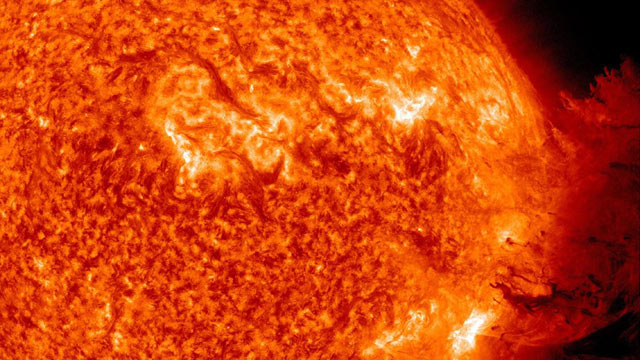 PHOTO: A solar flare erupts off the sun, in tihs June 7, 2011 file photo.