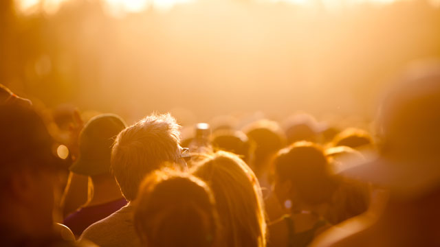 PHOTO: A crowd at a music festival.