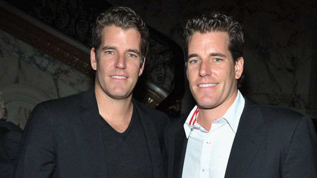"PHOTO: Tyler Winklevoss and Cameron Winklevoss attend EPIX and Vanity Fair present the premiere of ""Everything Or Nothing: The Untold Story Of 007"" after party at Metropolitan Club on Oct. 3, 2012 in New York City."