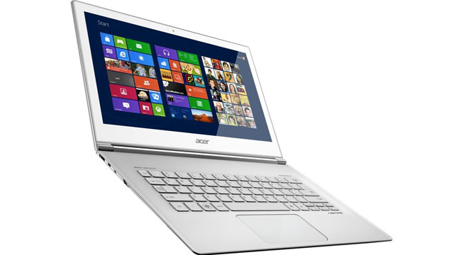 PHOTO: The Aspire S7, introduced at Computex 2012, is a Windows 8 ultrathin laptop with a touchscreen.