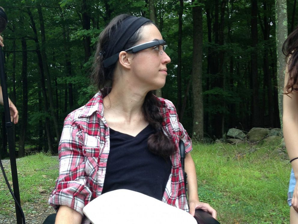 PHOTO: Alex Blaszczuk, who is paralyzed from the chest down, wears Google Glass on a camping trip.