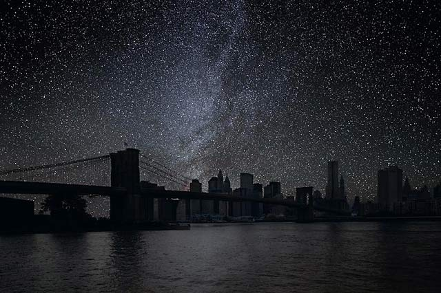 ht Brooklyn Bridge 20 darkened skies ll 130307 wblog Darkened Cities: The Night Sky You Dont See