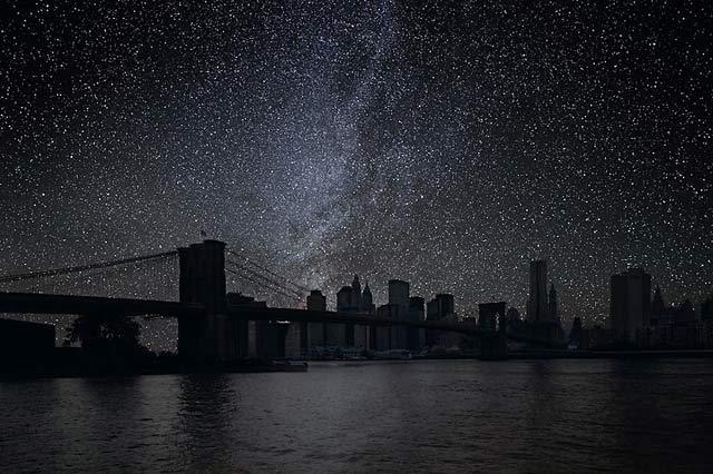 ht Brooklyn Bridge 20 darkened skies ll 130307 wblog Darkened Cities: The Night Sky You Dont See