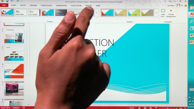 PHOTO: Microsoft Office 2013 was redesigned for Windows 8 and tablets.