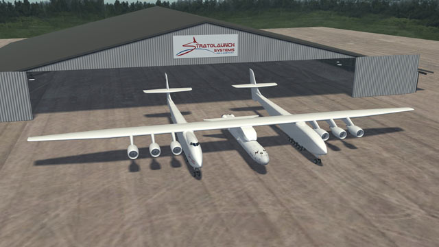 PHOTO: Microsoft co-founder Paul Allen and aerospace pioneer Burt Rutan announced they're building a giant airplane, and spaceship to zip people and cargo into orbit, called the Strato Launch, Dec. 13, 2011.