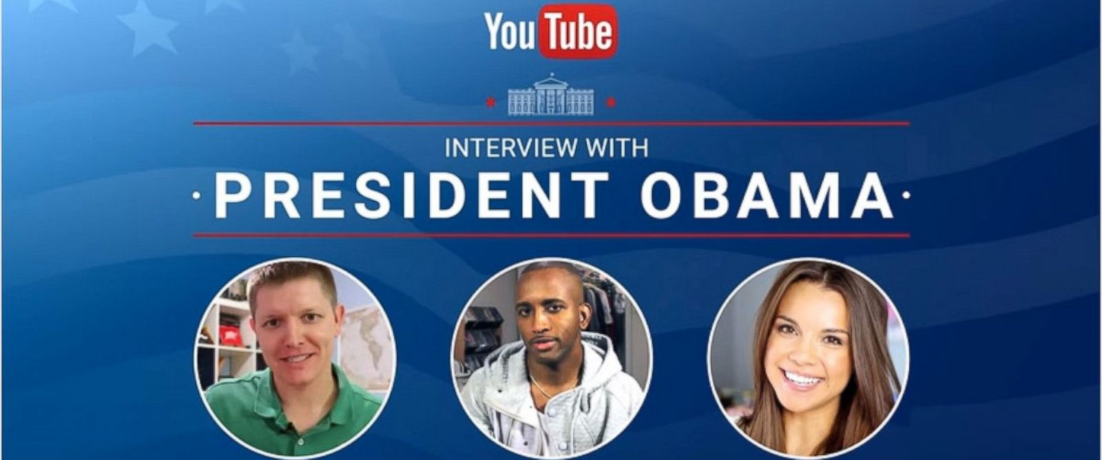 PHOTO: Three YouTube stars are set to interview President Obama on Jan. 15, 2016.