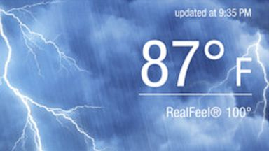 PHOTO: Accuweather is available for the iPhone and Android.
