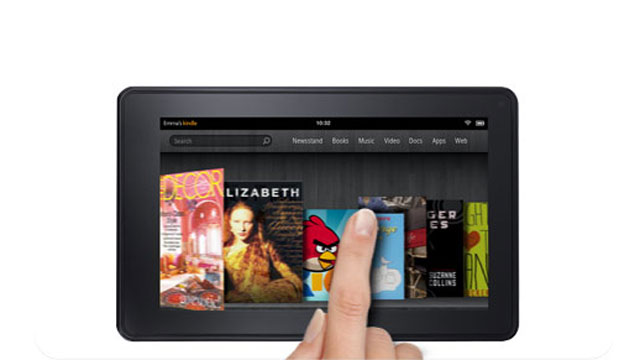 PHOTO: The Amazon Kindle Fire Tablet is shown.